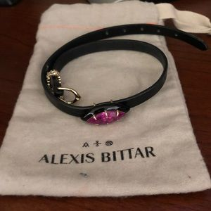 Alexis Bittar Leather wrap Bracelet/Choker